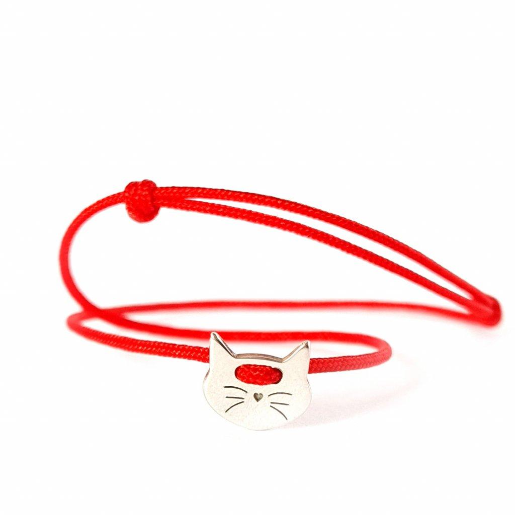 kabbalah s kočičkou stříbro náramek looa šperky brno