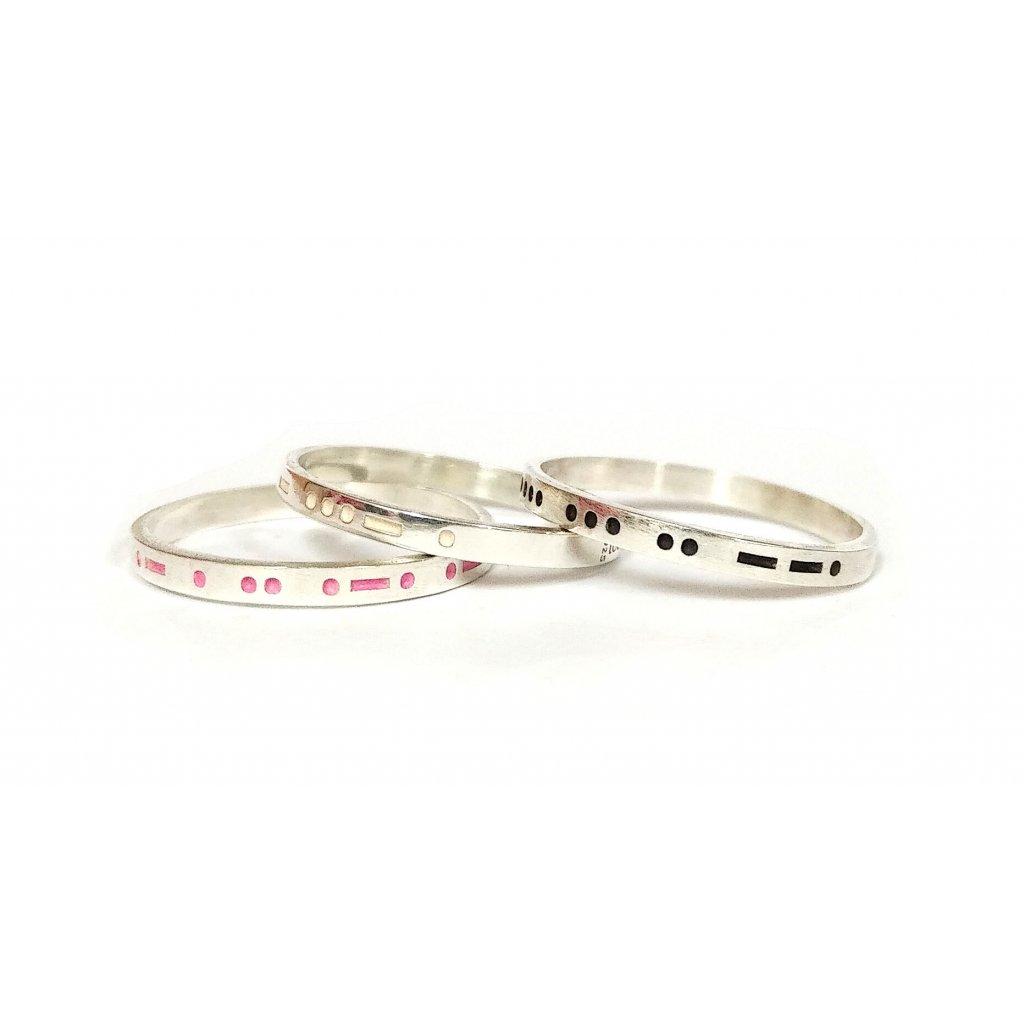 Prsten Morseův kód, LOOA, stříbro