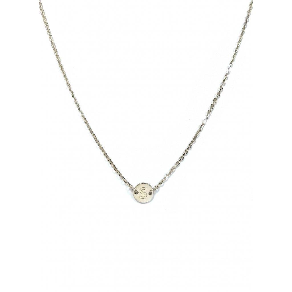 písmeno na krk, náhrdelník LOOA, stříbro