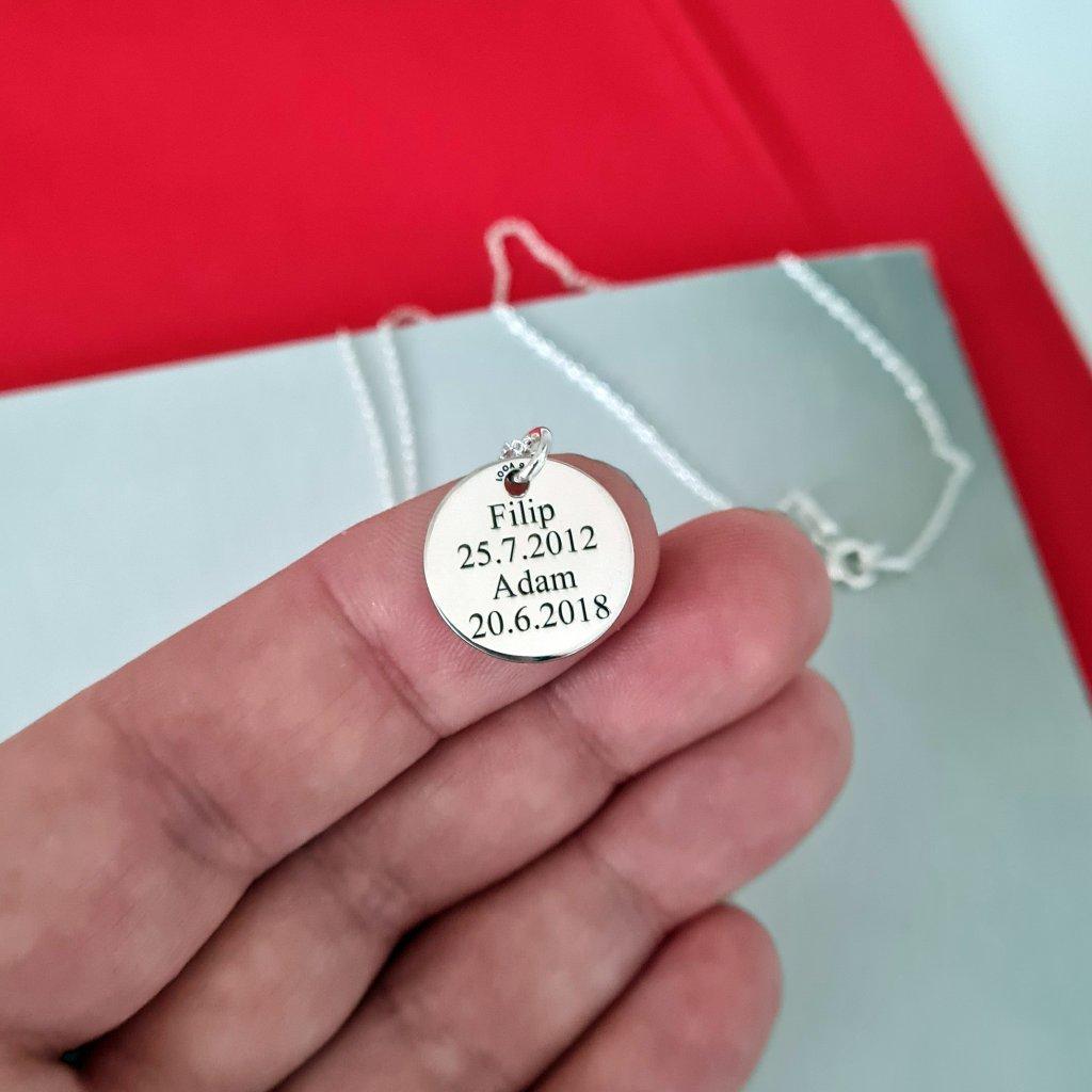 medailon určeno pro gravírování stříbro zlato šperky looa