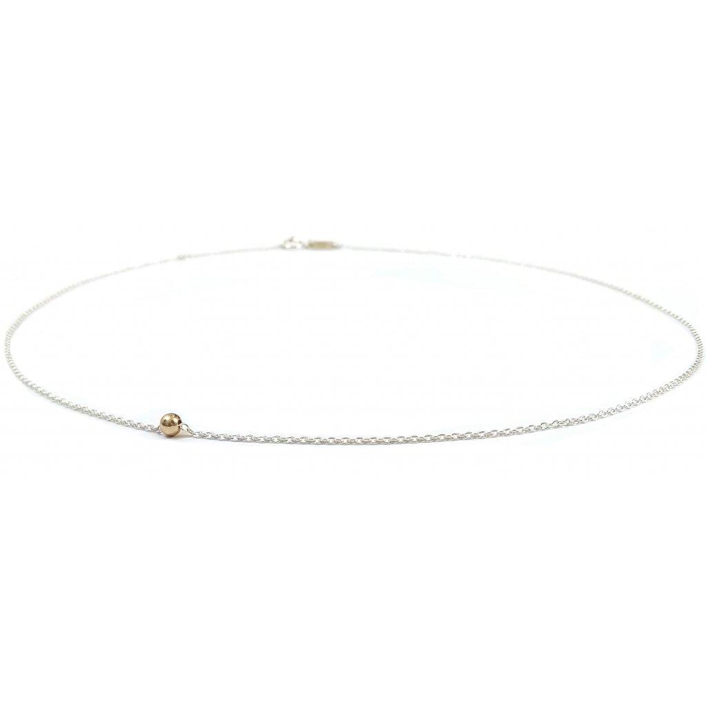 Jeden mezi všemi, náhrdelník LOOA, zlato stříbro