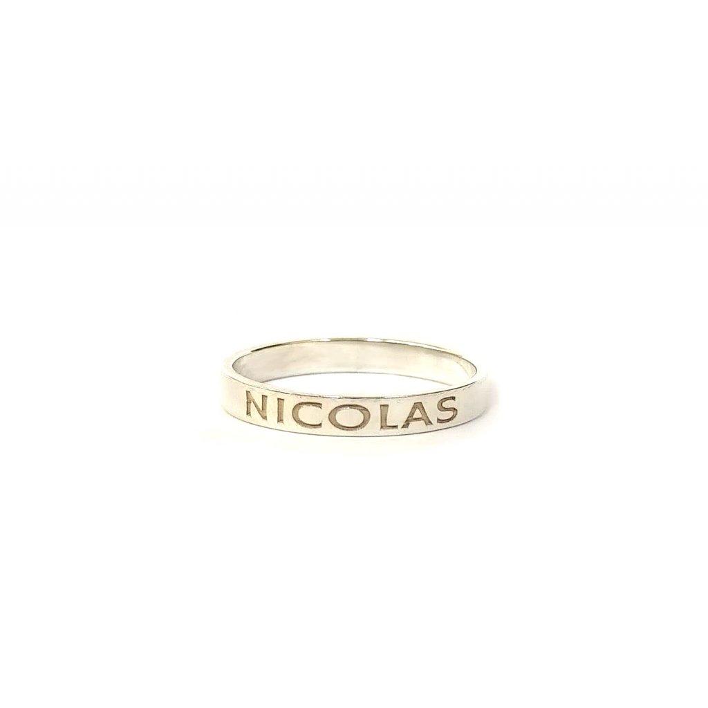 Prsten na přání, stříbro