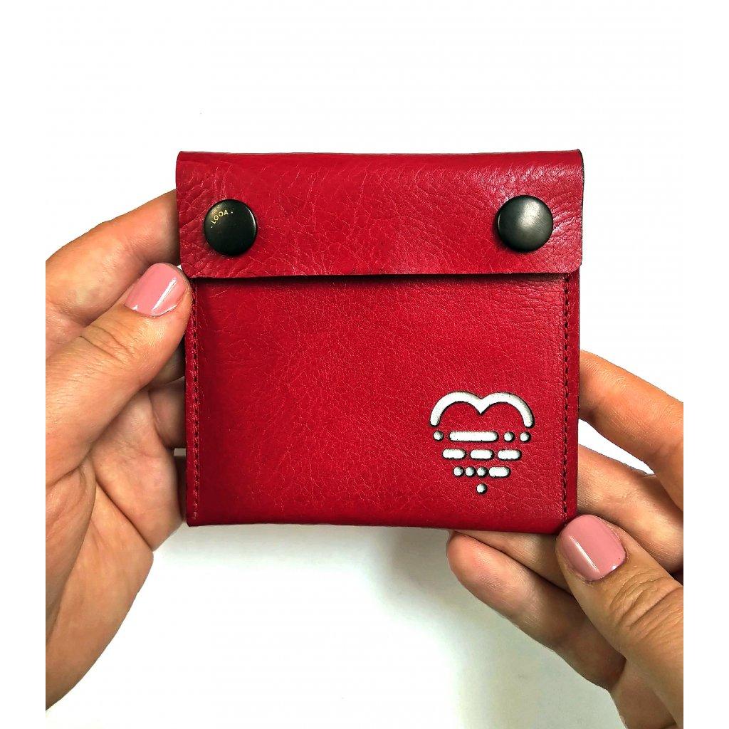 Peněženka červená, LOOA