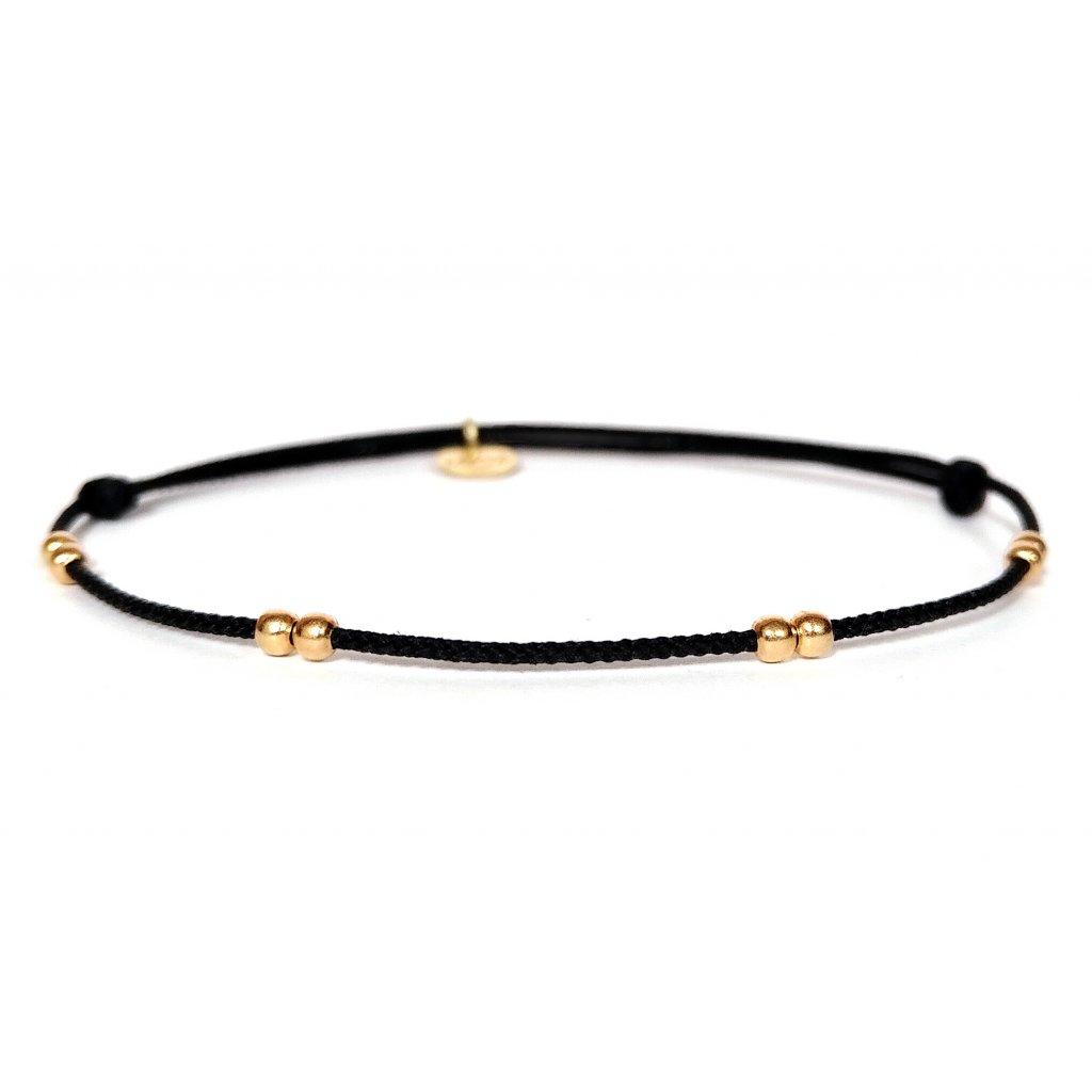 Náramek LOOA, zlaté korálky, Au 585