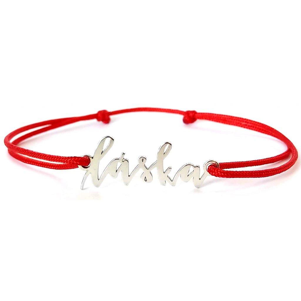 Láska, ručně psaný šperk, LOOA, stříbro