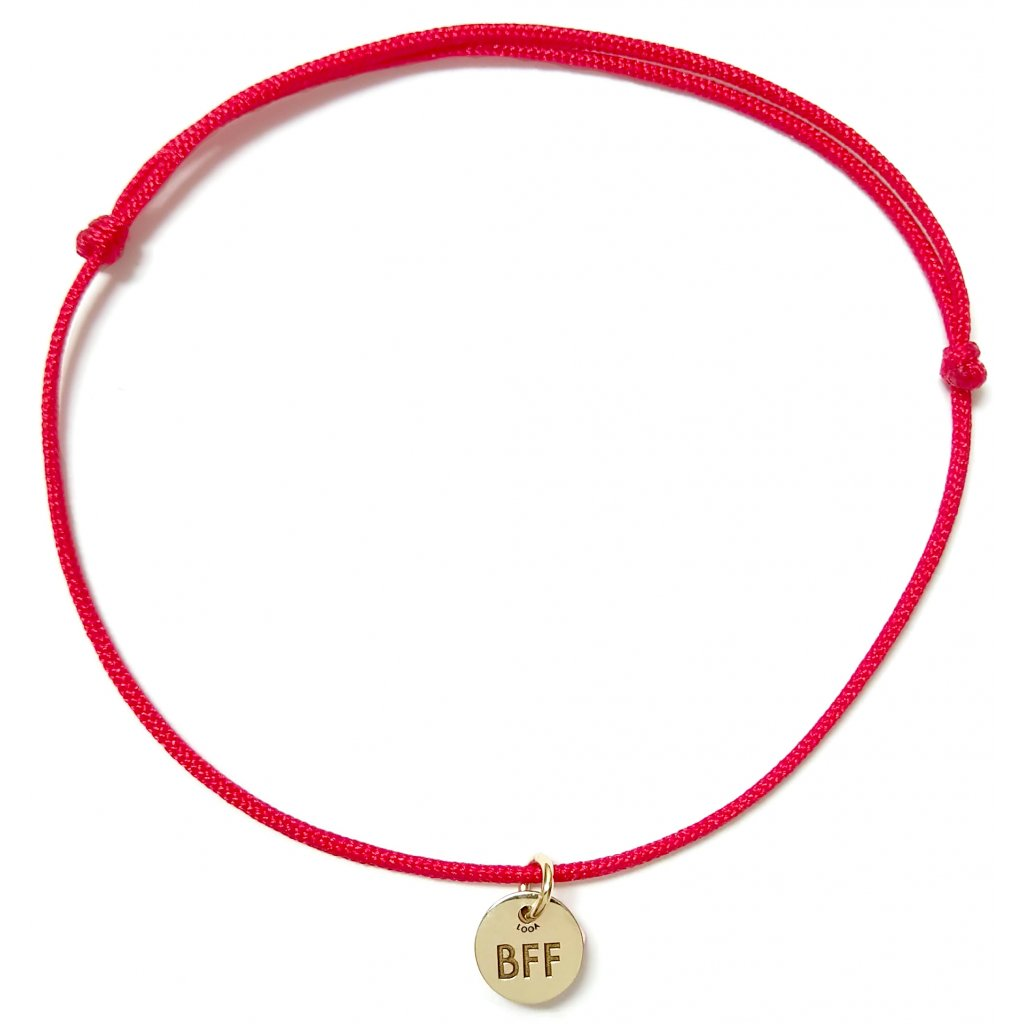Medailon BFF, náramek LOOA, zlato