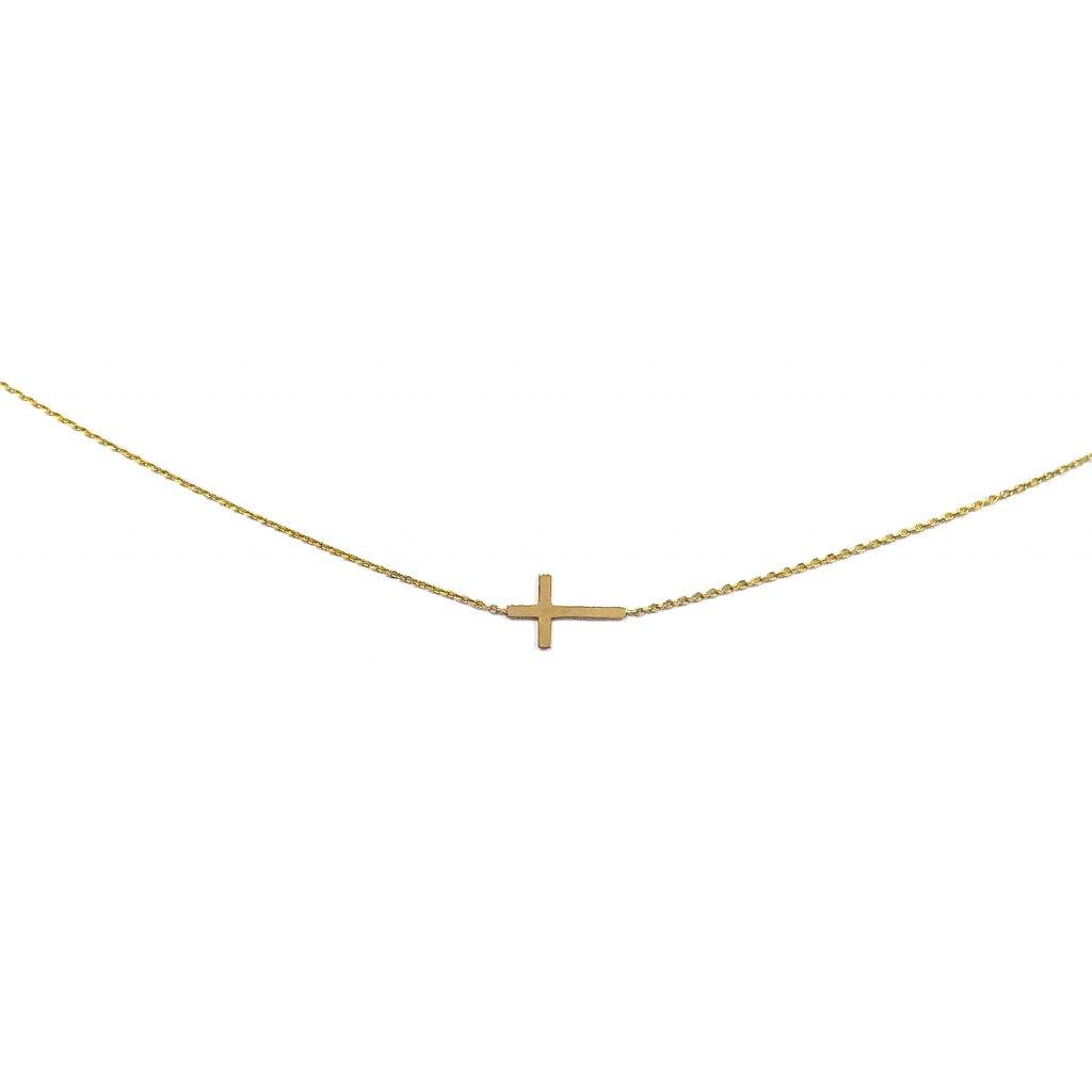 Křížek, zlato, náhrdelník LOOA