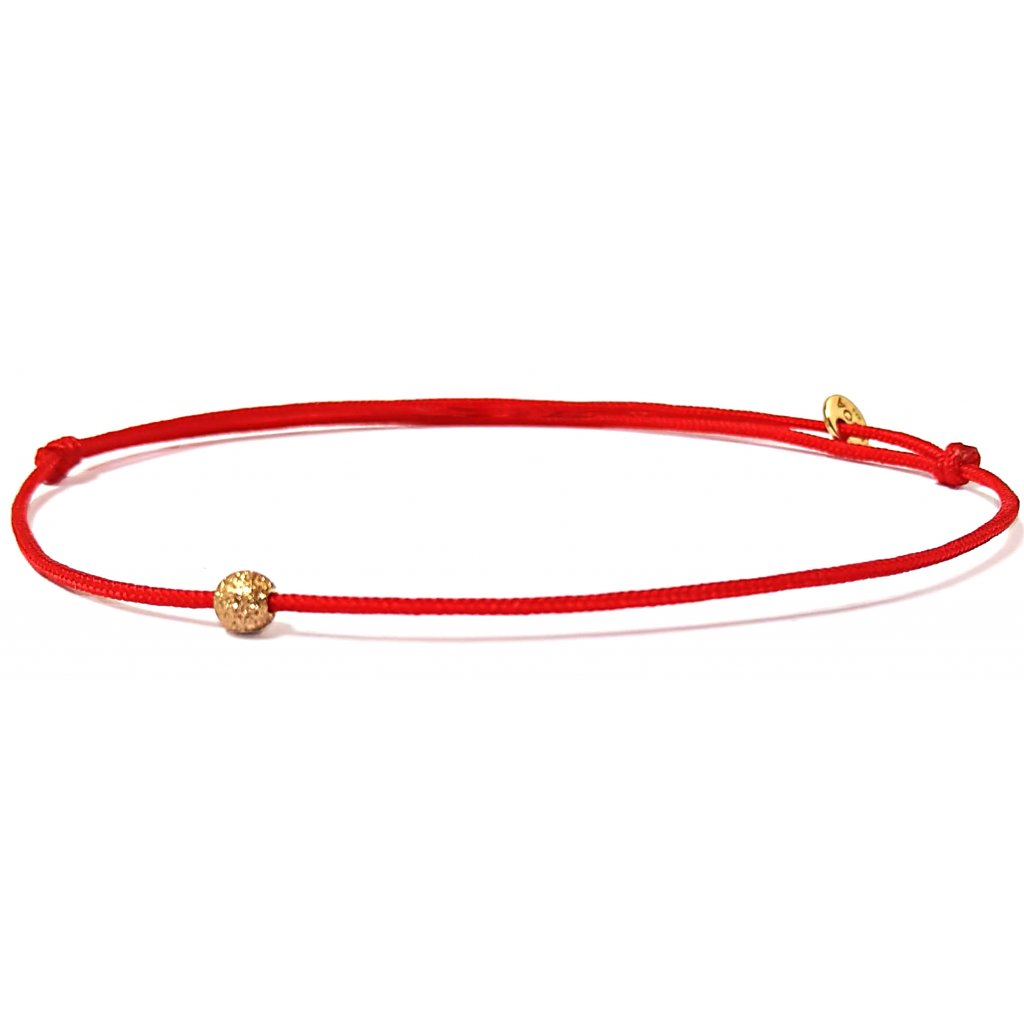 Jeden mezi všemi, náramek LOOA,červená, pozlacené žlutým zlatem