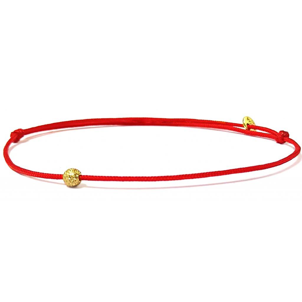 Jeden mezi všemi, náramek LOOA,červená pozlacené žlutým zlatem