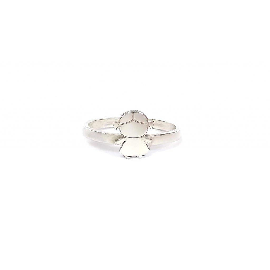 Holčička, prsten LOOA, stříbro