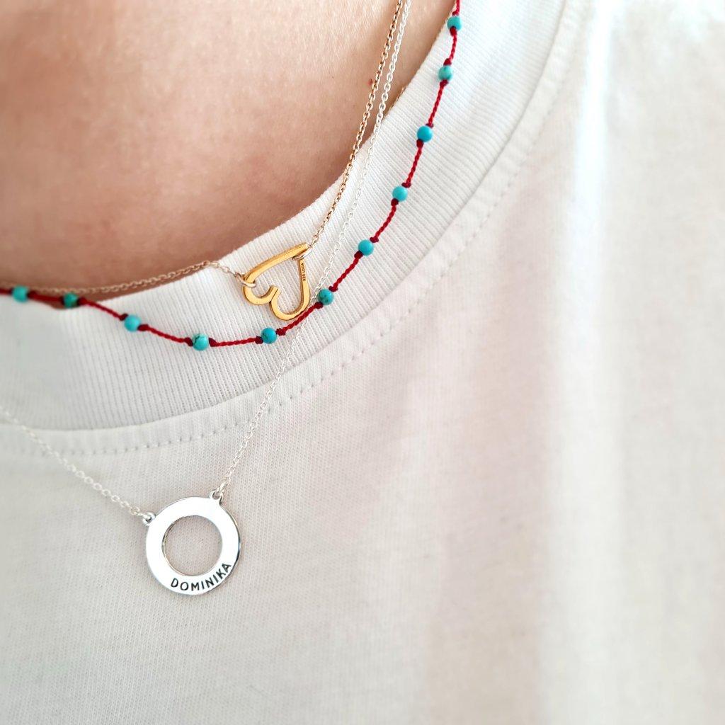 kroužek karma srdíčko šperky looa brno