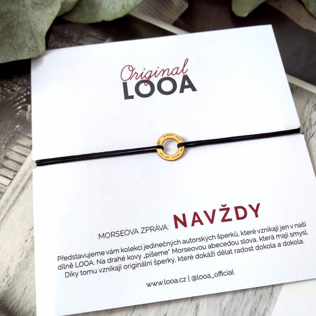 LOOA original, navždy, pozlacené, náramek