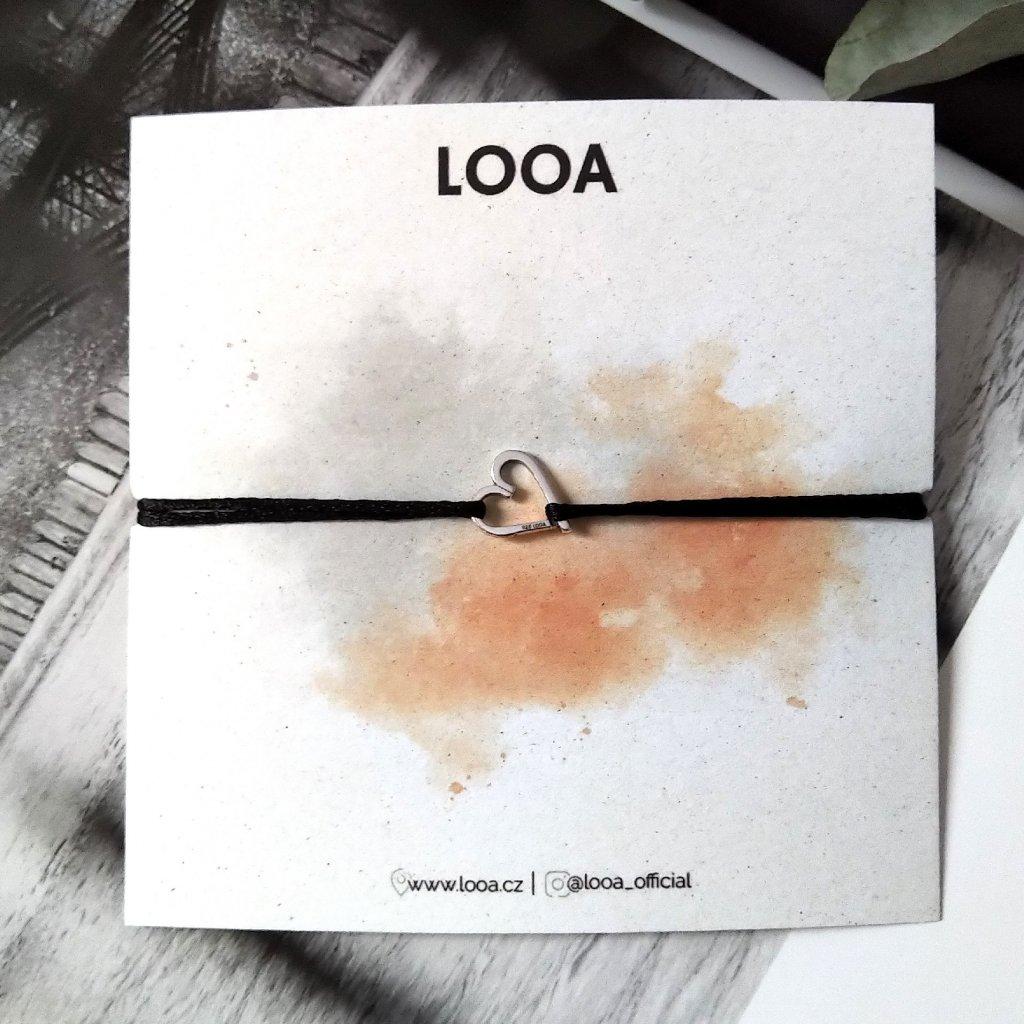 šikmé srdíčko LOOA, stříbro