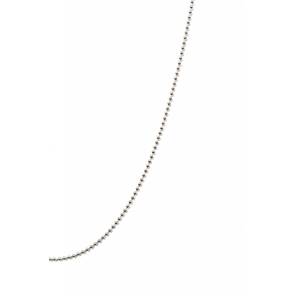 kuličkový řetízek LOOA, stříbro, detail