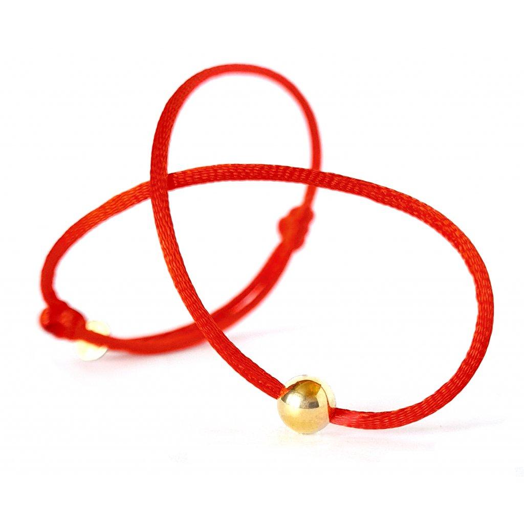 kabbalah s kuličkou zlato šperky looa náramek