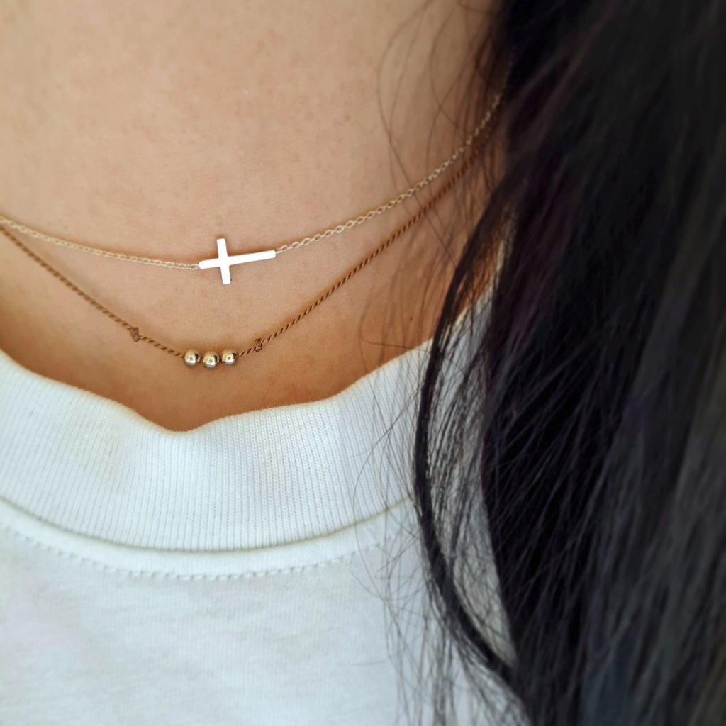 křížek stříbro šperky looa brno