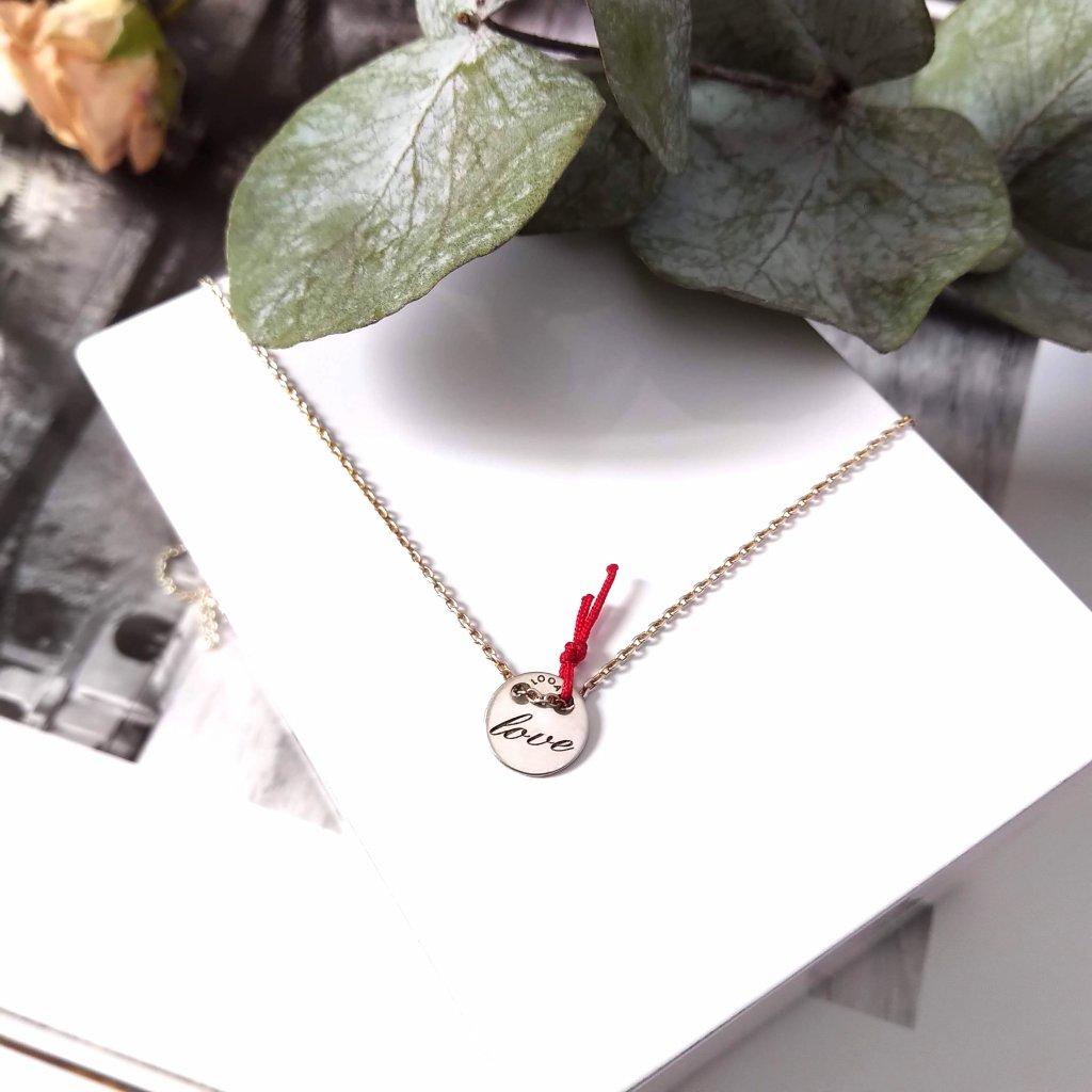 náhrdelník love looa stříbro