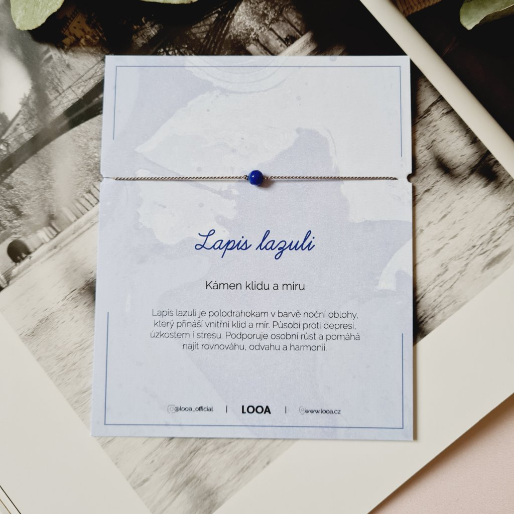 lapis lazuli náramek looa stříbro