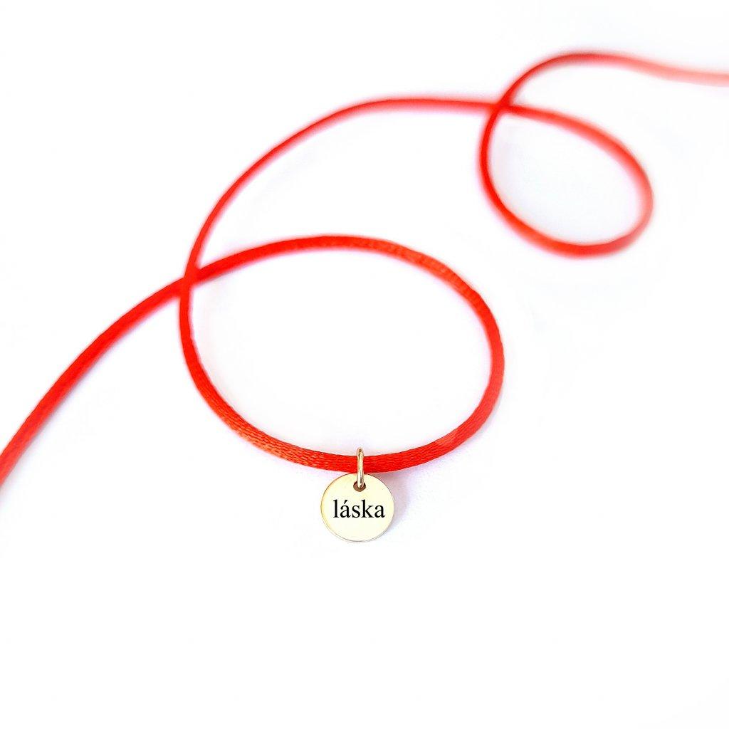 kabbalah LOOA náramek s medailonem děkuji