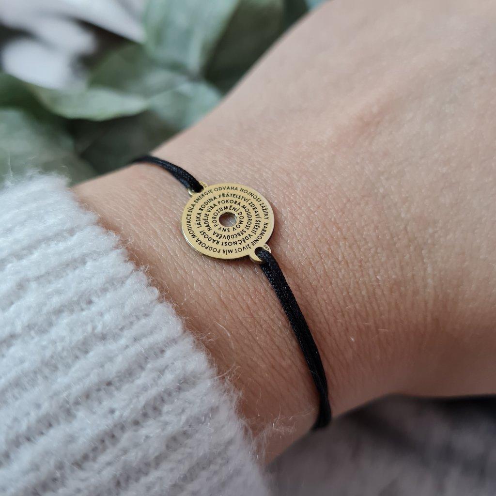 talisman šťastného života žluté zlato vyjímečný šperk náramek looa