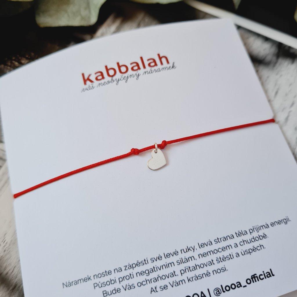kabbalah se srdíčkem určeno pro gravírování stříbro