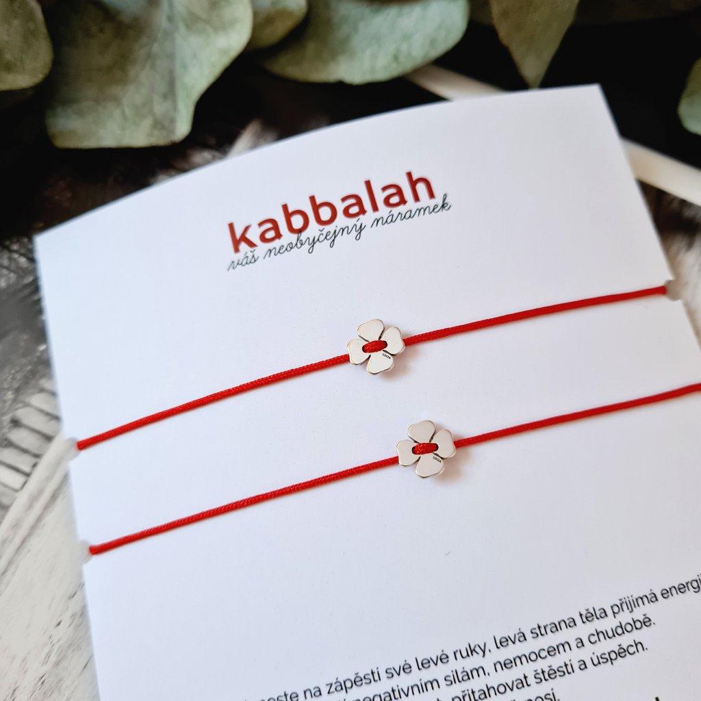 kabbalah čtyřlístek náramek looa stříbro
