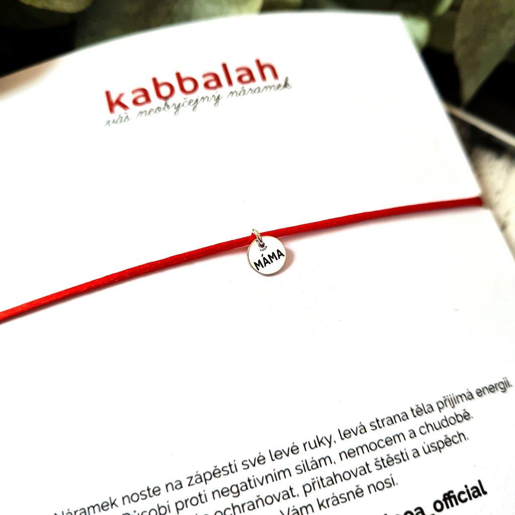 kabbalah medailon máma stříbro náramek looa