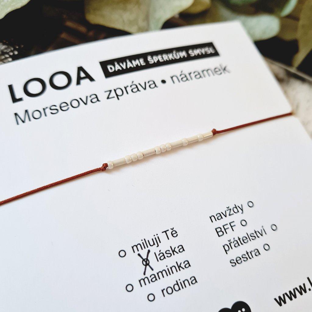 morseova zpráva náramek looa mini rokajl brno