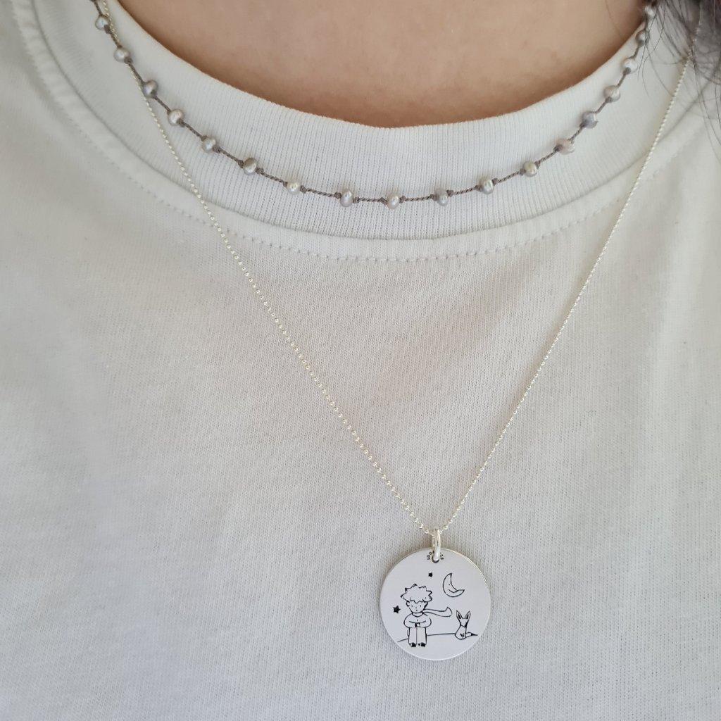 medailon malý princ looa stříbro