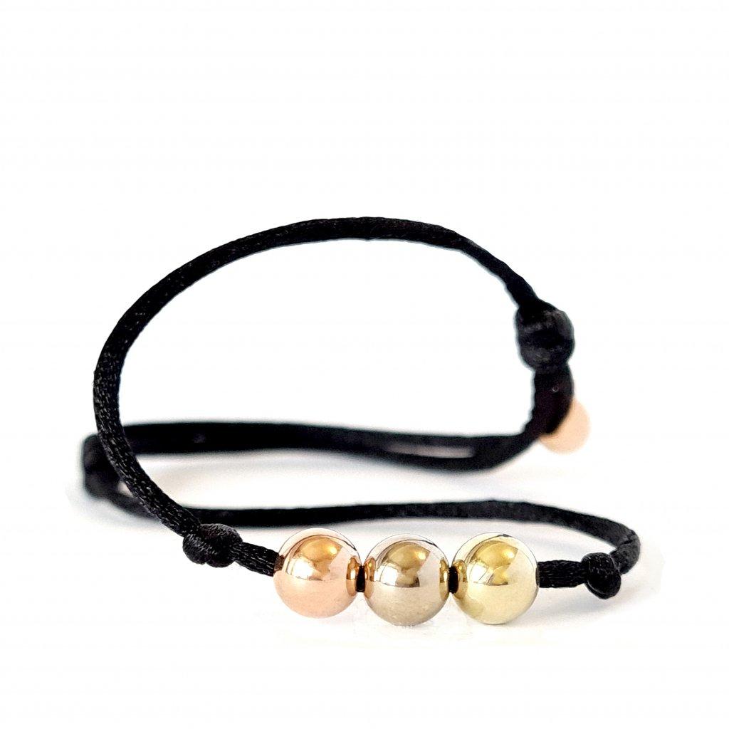 náramek LOOA tři přání zlato šperky brno