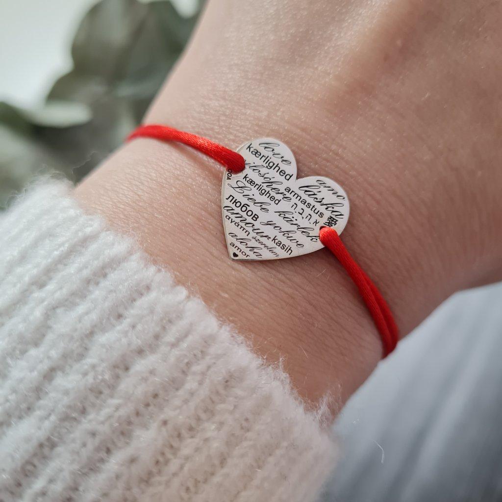 talisman láska v různých jazycích love stříbro náramek looa