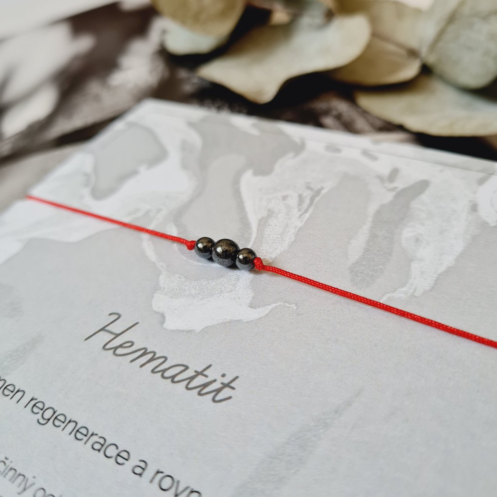 hematit trio náramek minerály looa šperky brno