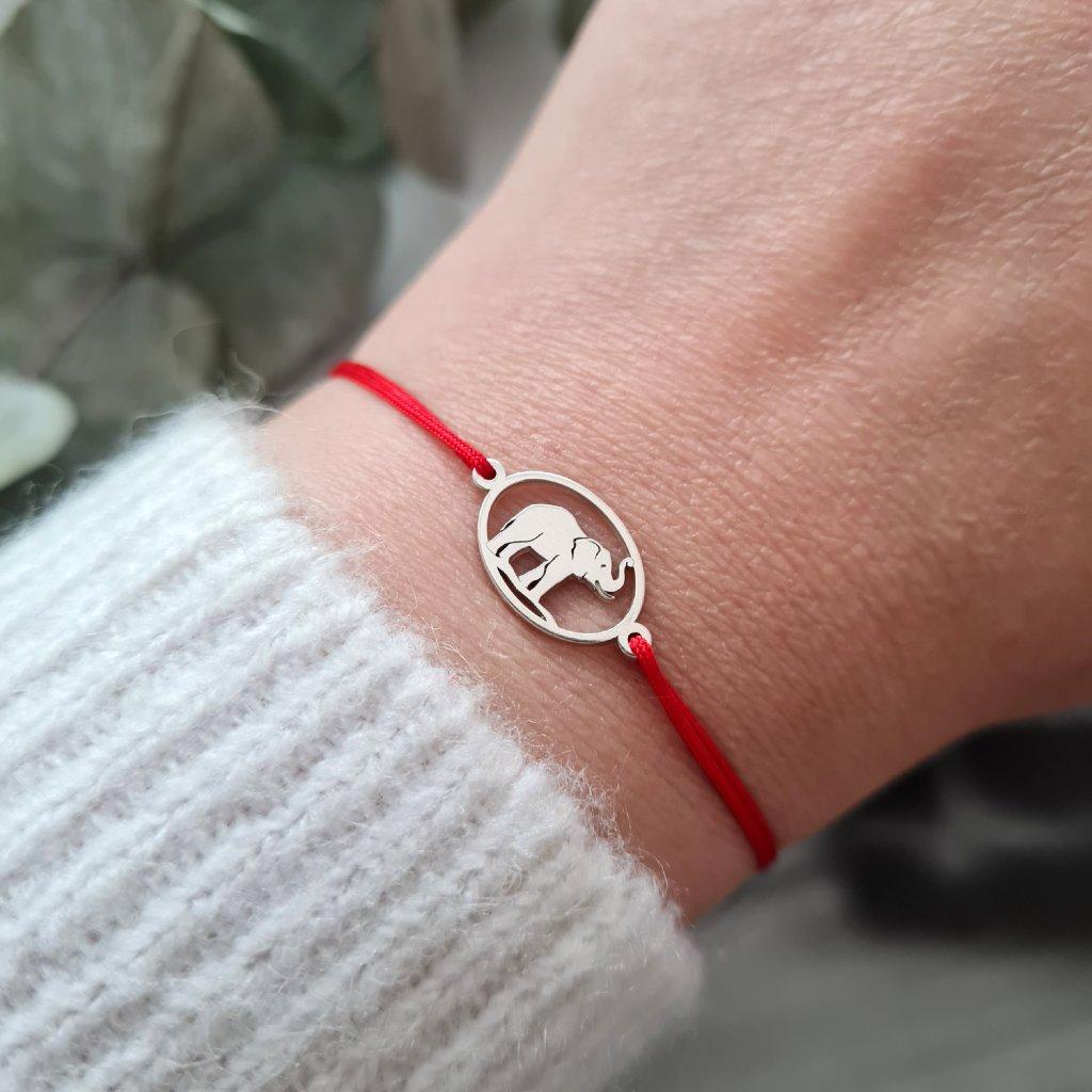 slon nosím štěstí náramek looa stříbro zlato šperky