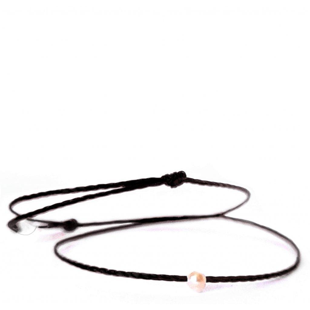 perlový náramek looa mini šperky brno černý