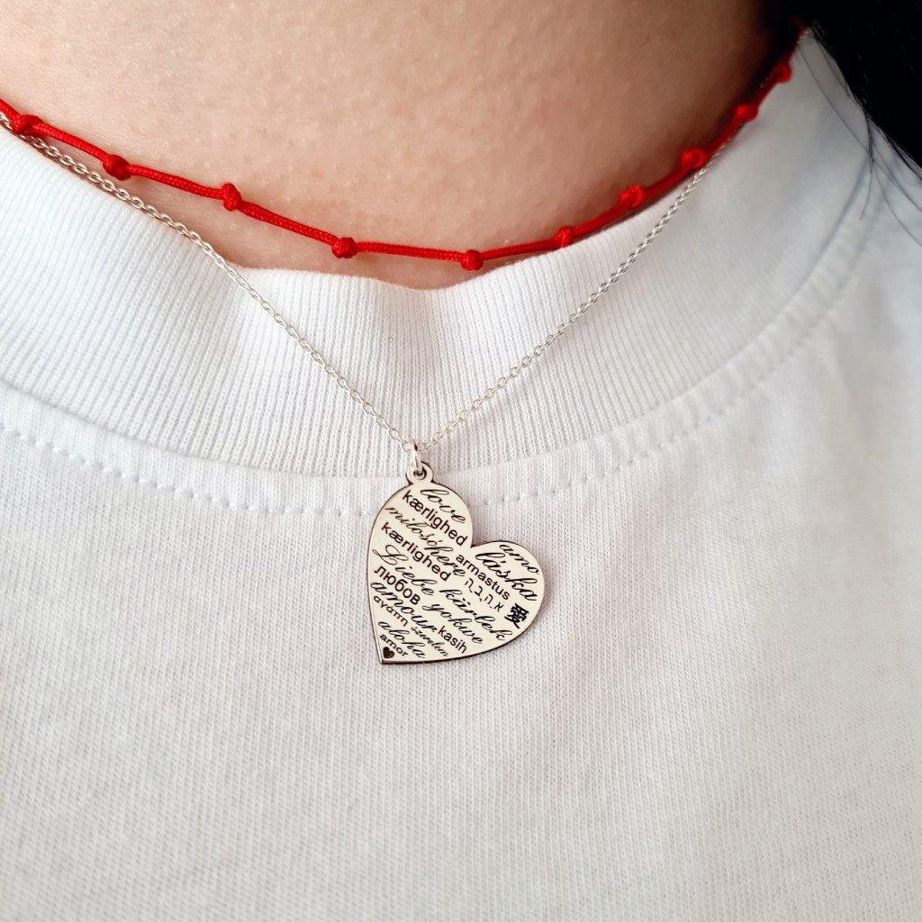 talisman láska řetízek šperky looa stříbro zlato
