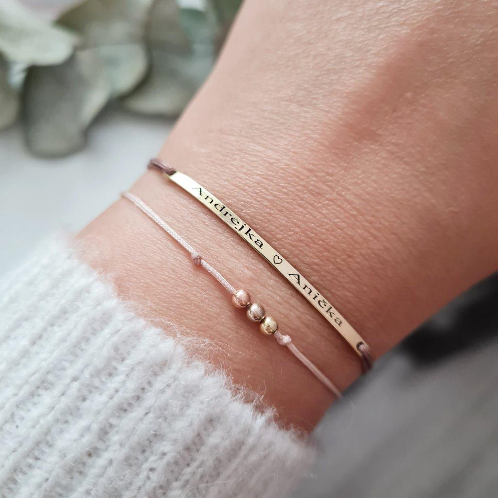 náramek určený pro gravírování šperky looa brno zlato stříbro