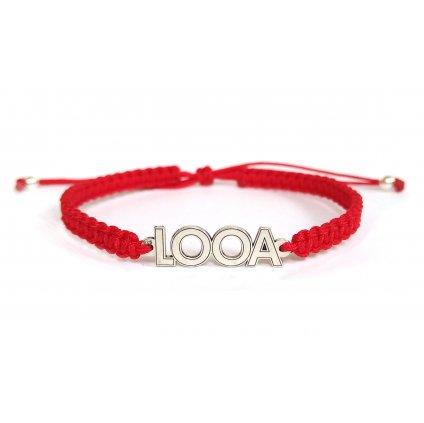 Pletený náramek LOOA // stříbro Ag 925/1000