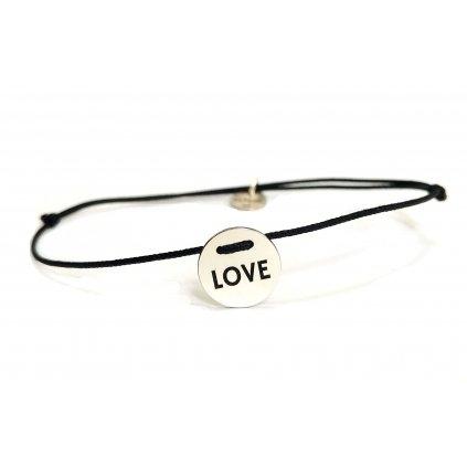 LOVE // Náramek LOOA, stříbro Ag 925/1000