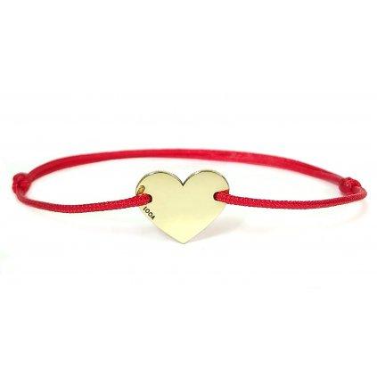 Srdíčko LOOA, zlato žluté, červená
