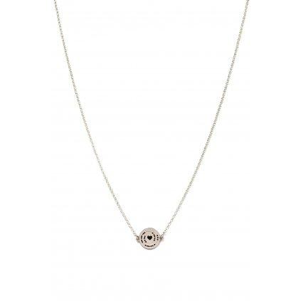 náhrdelník LOOA, morseův kód spolu, stříbro, řetízek.