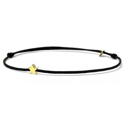 náramek LOOA, hvězdička pozlacená žlutým zlatem
