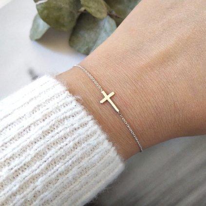 křížek,náramek LOOA, stříbro