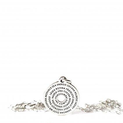 talisman šťastného života stříbro vyjímečný šperk náhrdelník looa