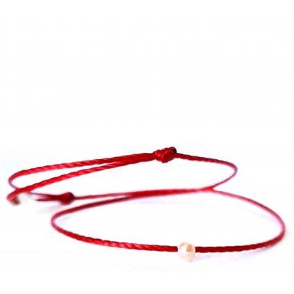 perlový náramek looa mini šperky brno červený