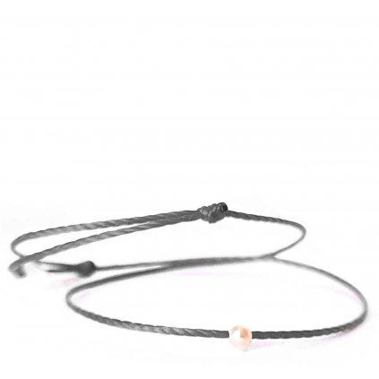 perlový náramek looa mini šperky brno šedý