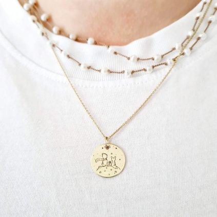 princ a liška medailon na zakázku šperky looa brno