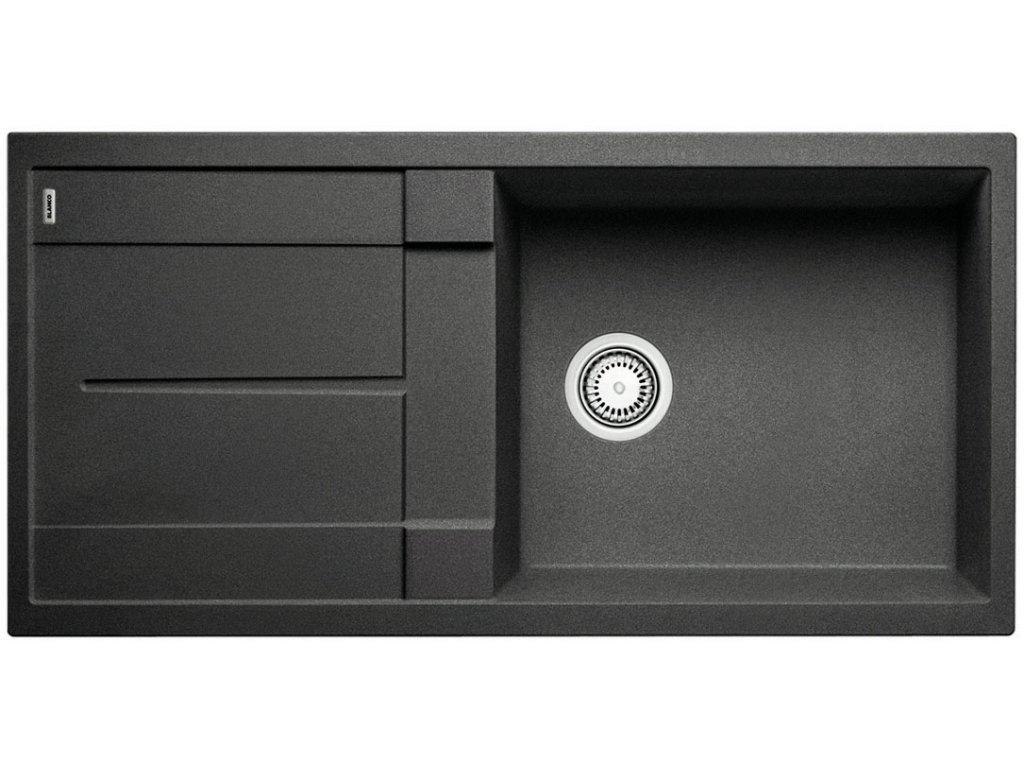 Granitový dřez Blanco METRA XL 6 S Silgranit antracit oboustranné provedení 515142