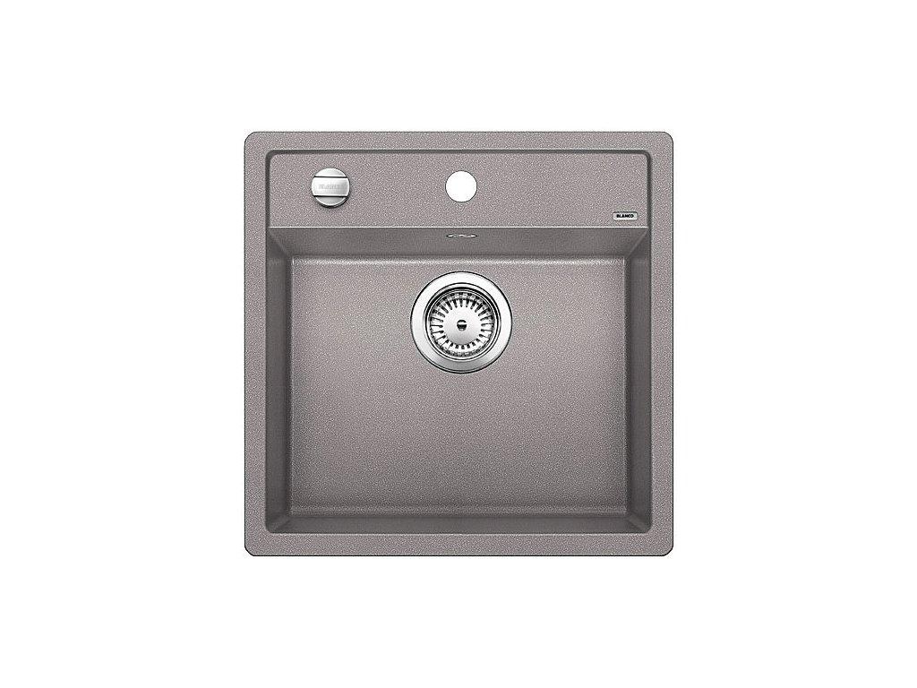 Granitový dřez Blanco DALAGO 5 Silgranit aluminium oboustranné provedení s excentrem 518522