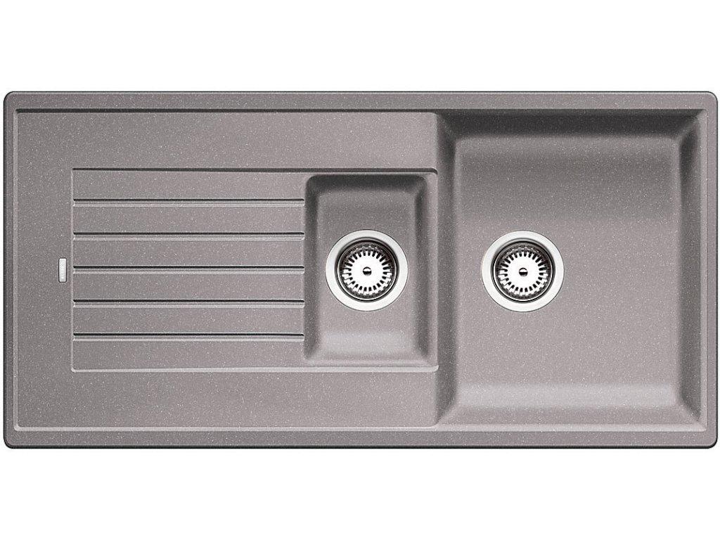 Granitový dřez Blanco ZIA 6 S Silgranit aluminium oboustranné provedení přísluš. ano 514741