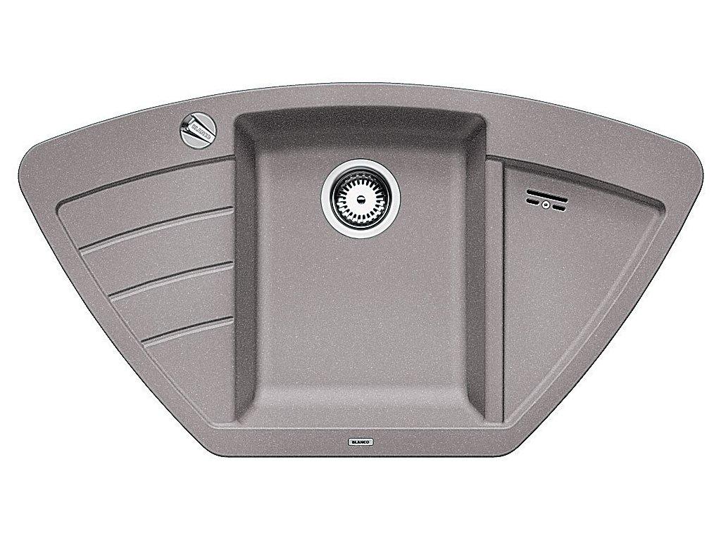 Granitový dřez Blanco ZIA 9 E Silgranit aluminium s excentrem 514749